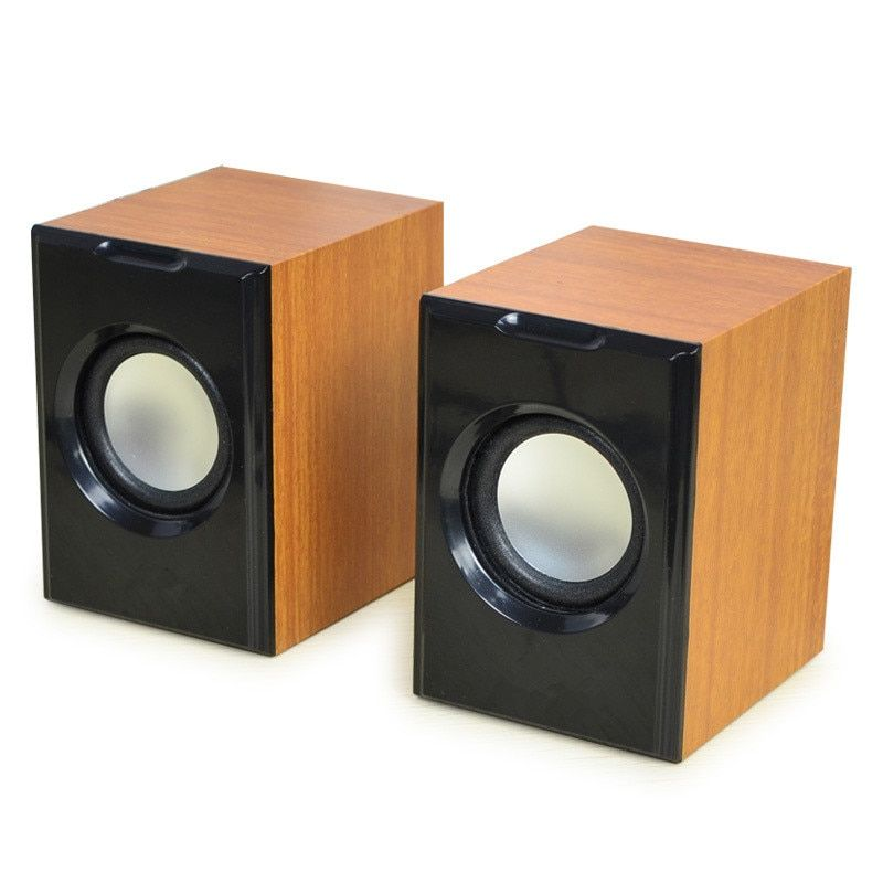 New Creative MiNi Subwoofer Wired Stereo  Small Computer Speaker PC Speakers With USB 2.0 With 3.5mm Interface