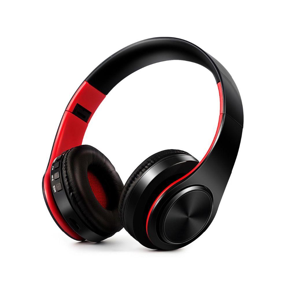 HIFI stéréo ecouteurs bluetooth casque musique casque FM et support carte SD avec micro pour mobile xiaomi iphone sumsamg tablette