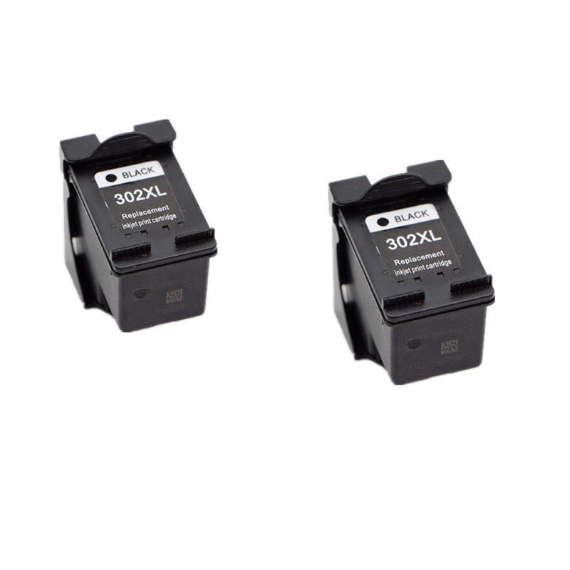 2 pcs black For HP ENVY 4520 4521 4522 4523 4524 Printer Ink Cartridge 302 302XL For HP ENVY 4520 printer ink 302 ns45