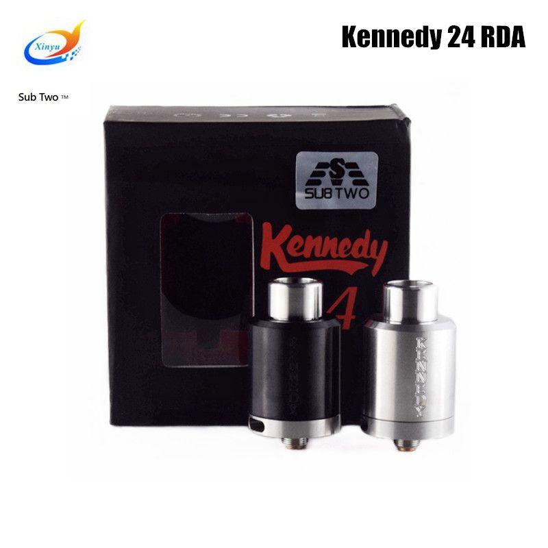 Kennedy 24 RDA 24mm Diameter SS Black Brass Copper PEEK Insulator Rebuildable Atomizer Vaporizer fit 510 box Mod tank vapor