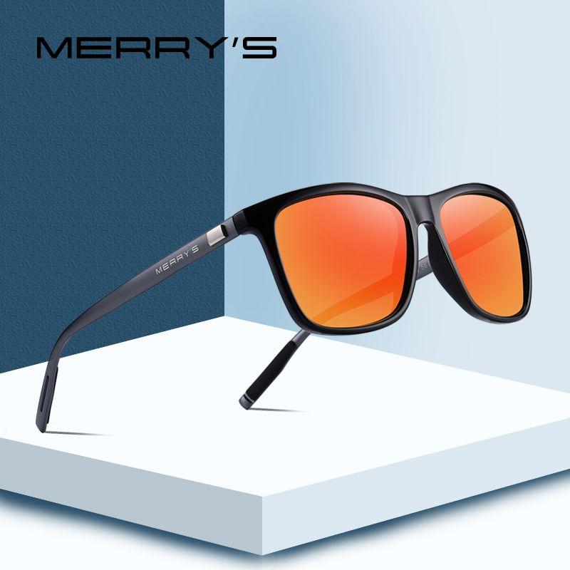 MERRY'S Unisex Retro Aluminum Sunglasses Polarized Lens Vintage Sun <font><b>Glasses</b></font> For Men/Women S'8286