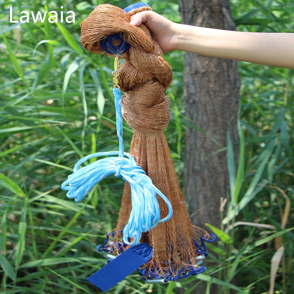 Lawaia Angeln Cast Net Hand Casting Net Fischernetze Dia2.4-7,2 mt Mit Eisen Platinen Fischerei Net Amerikanischen Hand guss