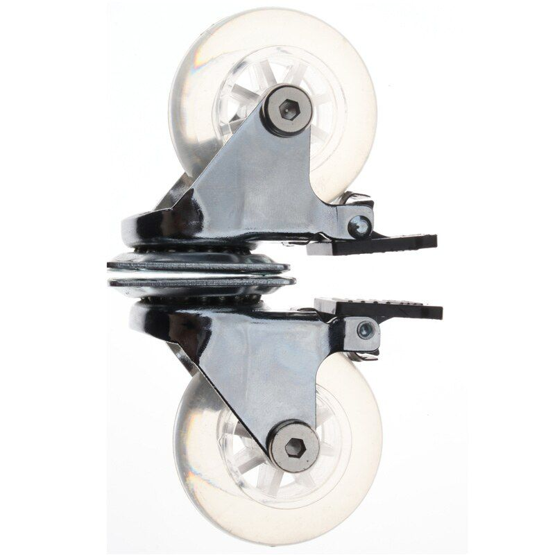 1PC Transparent Caster PU Chair Wheels Flat Plastic 2