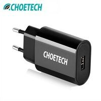 CHOETECH путешествия USB Зарядное устройство 12 Вт зарядное устройство для мобильного телефона для включения в розетку адаптер для iPhone XS XR зарядк...