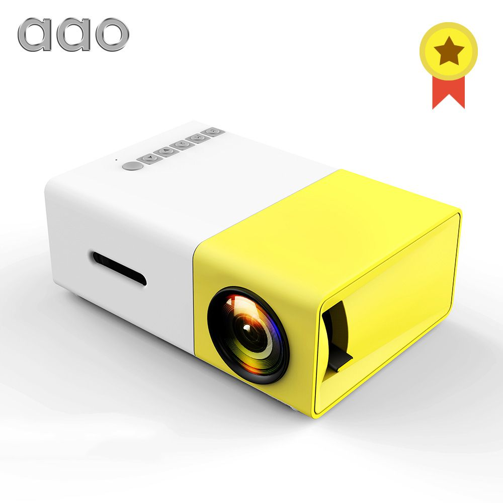AAO YG300 LED Mini Projector Audio YG-300 YG310 HDMI USB 3D Pico Projector Home Media Player LCD Video Proyector Kids Child Gift