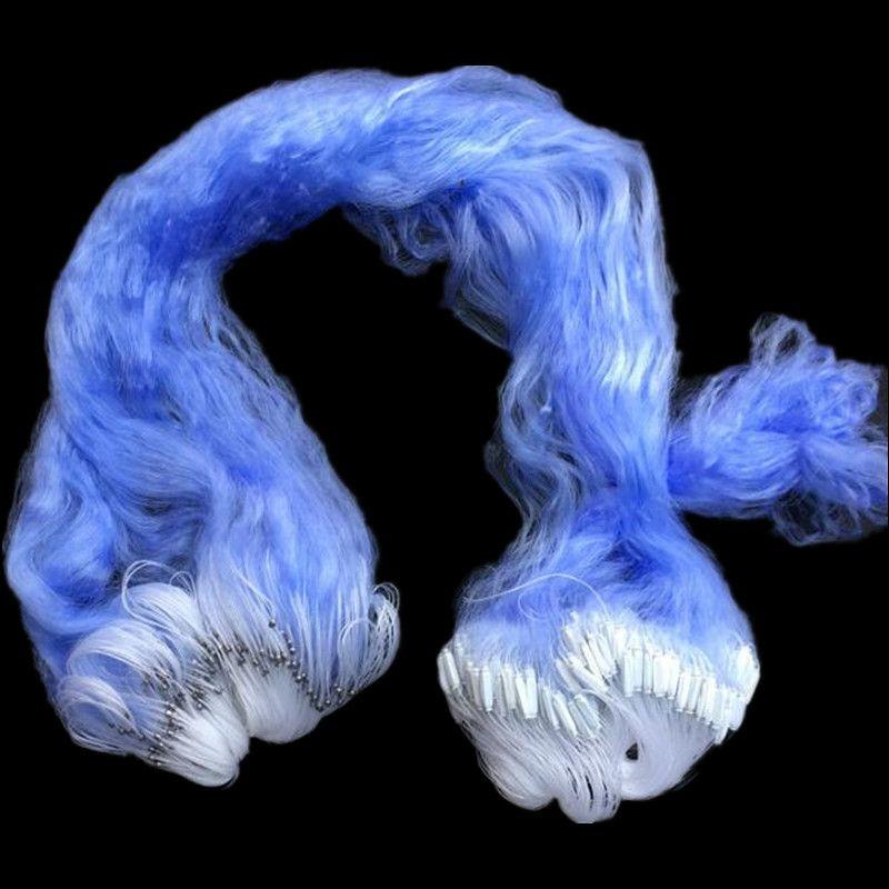 3 schicht fischernetz tiefe 1,3 m kiemen net länge 50 m mesh 20mm-50mm mesh blau angeln netzwerk monofilament nylon net rede de pesca