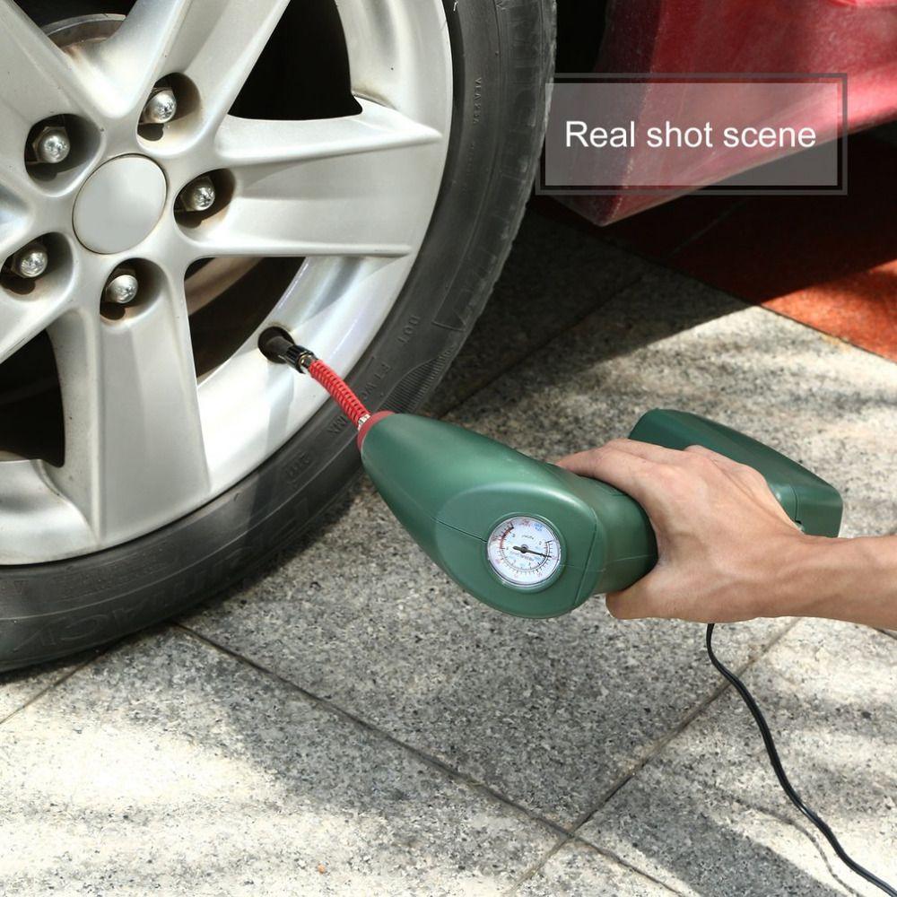 Новый портативный Портативный воздушный компрессор авто шины Надувное насос автомобиль инструмент для наружной аварийного Спорт пул Игру...