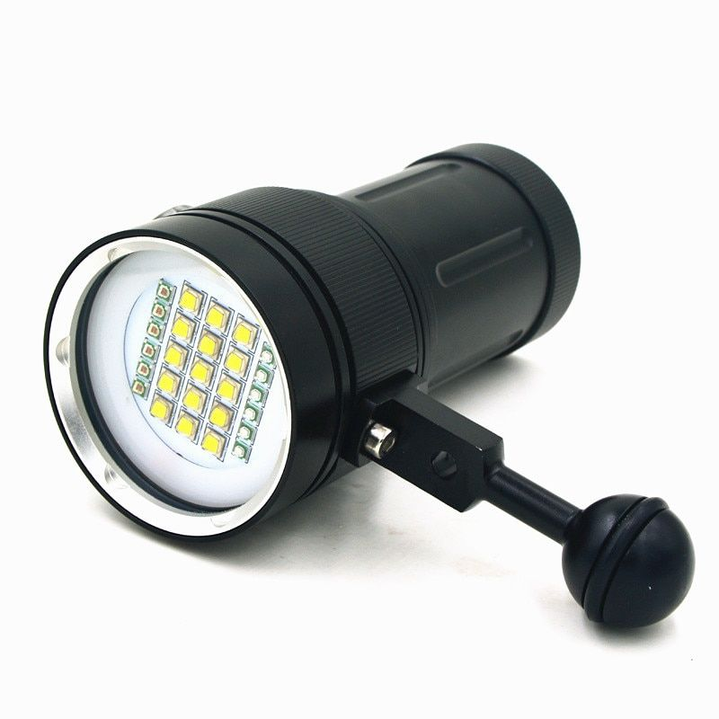 New Scuba Diving Underwater 100M XM-L2 LED Video Camera Photography Light Torch Flashlight (Torch Only)