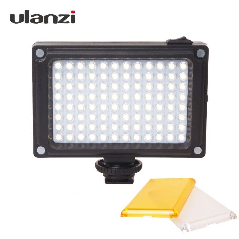 Ulanzi 96 Camera LED Video Light Photo Studio Light on Camera with Hot shoe for Canon Nikon Sony DV SLR zhiyun Smooth Q <font><b>Gimbal</b></font>