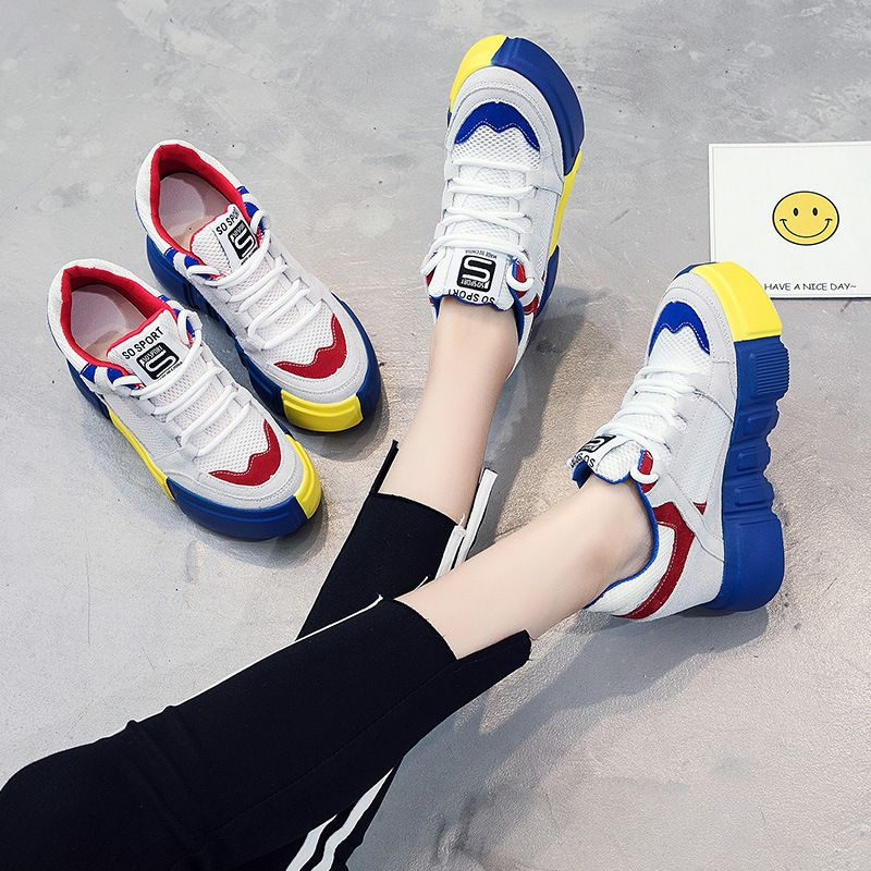 SWYIVY Genuine Leather Suded Sneakers Shoes Woman Platform Female Casual Canvas Shoes Increased Wedge Autumn New Sneakers Breath