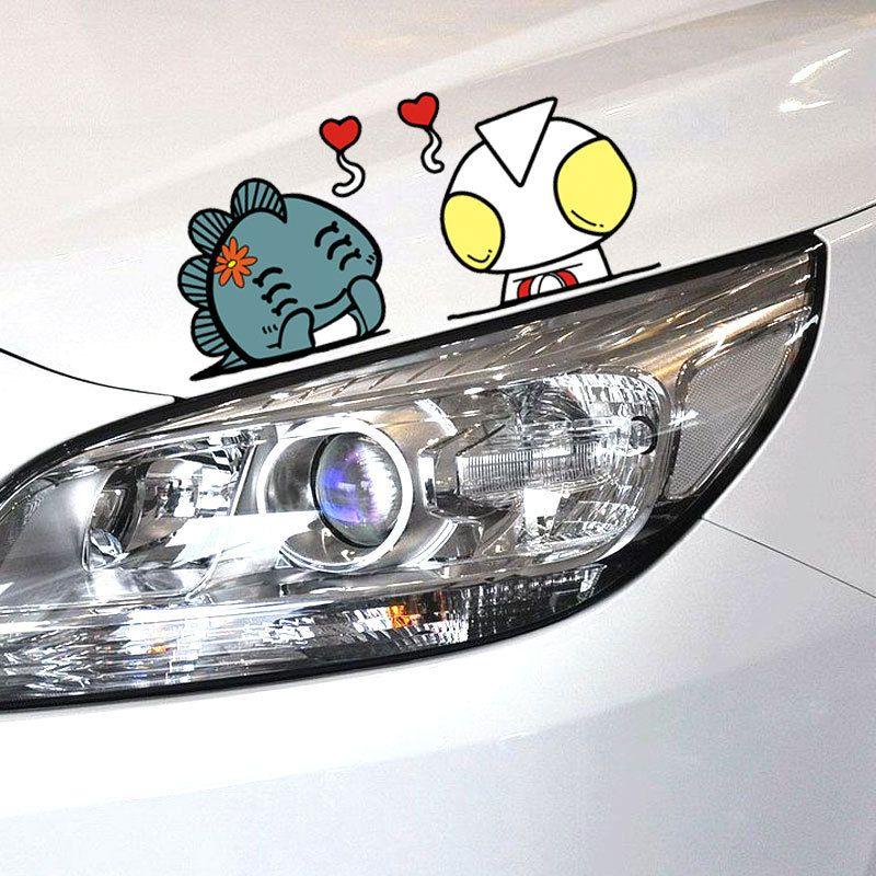 Car-styling Cartoon Car Sticker and Decal Altman Cover Scratches Funny Accessories for Ford Focus 2 3 Mazda 3 Vw Skoda Polo Golf