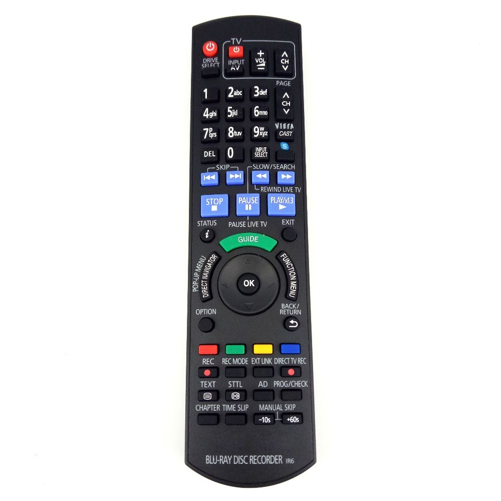 Replacement For Panasonic BLU-RAY DISC RECORDER Remote control for DMRPWT520 DMRPWT530 DMRPWT635 DMR-BWT800EB DMR-BWT700GZ