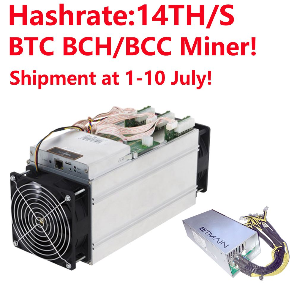 Shipment at 1-10th July! BTC BCH/BCC Miner! Bitmain Antminer S9i-14.0 Bitcoin Miner 14TH/S Asic Miner 16nm Btc Miner with APW3++
