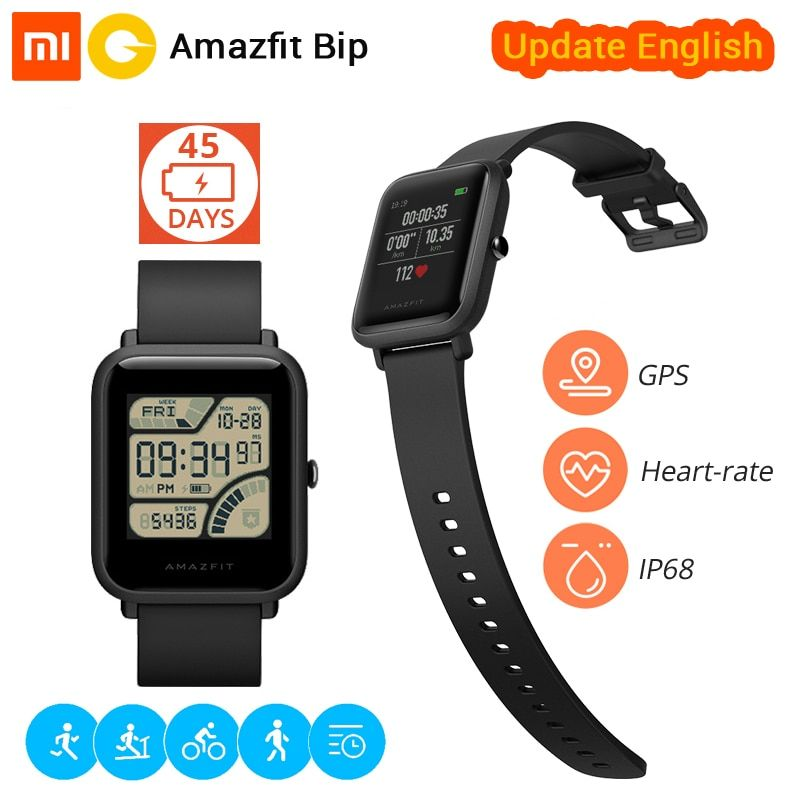 [English Version] Xiaomi Huami Smart Watch Amazfit Bip Sports watch Pace Lite Bluetooth 4.0 GPS Heart Rate 45 Days Battery IP68