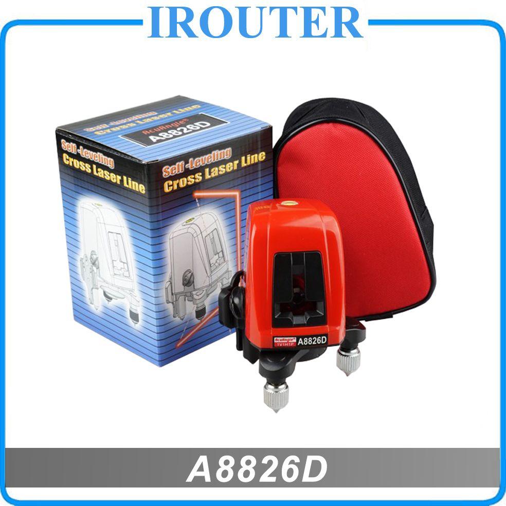 A8826D 360degree self- leveling Cross Laser Level 1V1H Red 2 line 1 <font><b>point</b></font> HOT SALE