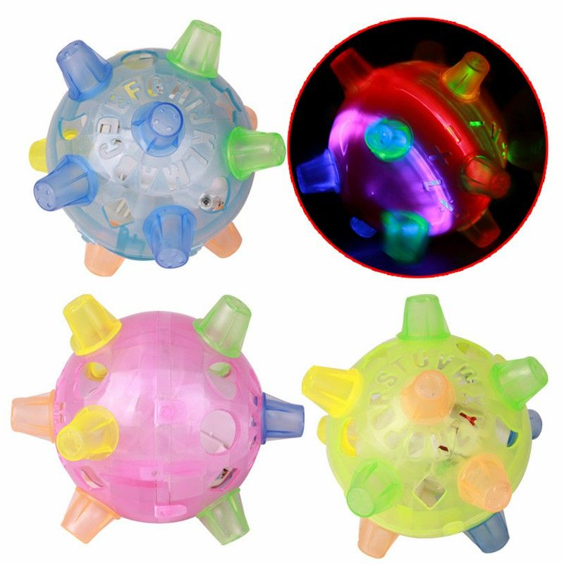 Flashing Dog Ball For Games Kids Ball Led Pets Toys Jumping Joggle Crazy Football Children's Funny Colored Toy E