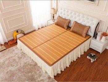 Cool tapis d'été À Double face pliage emballage 1.5/1.8 natte de bambou