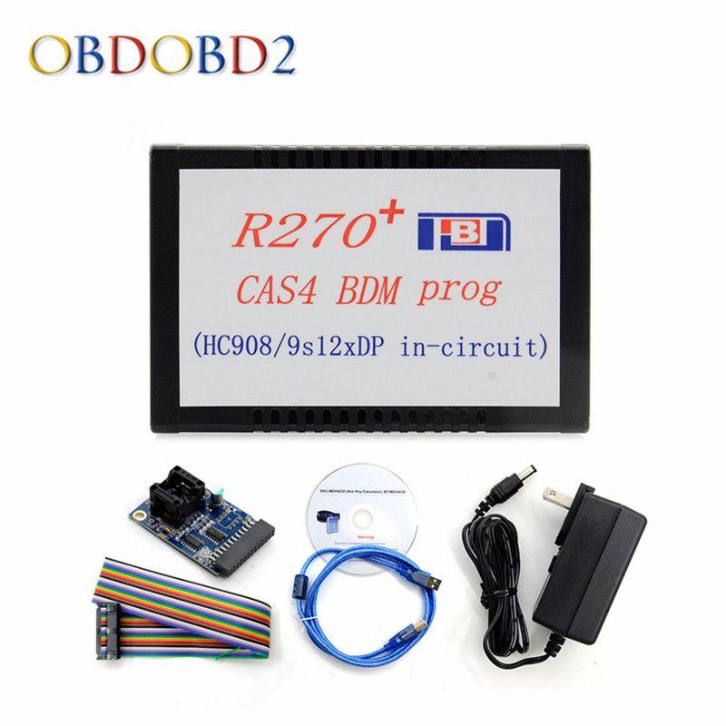 Newest R270+ V1.20 CAS4 BDM Prog R270 CAS4 BDM Auto Key Programmer For BMW Key Prog/Motorola MCU EEPROM Car Diagnostic Free Ship