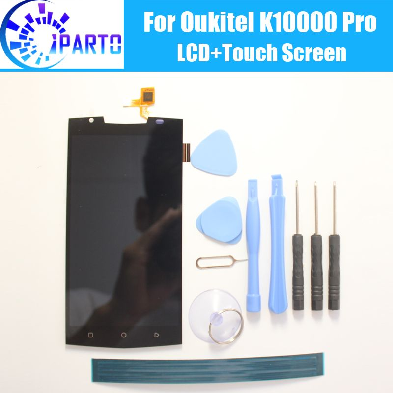 Oukitel K10000 Pro LCD Display+Touch Screen 100% Original Tested LCD Digitizer Glass Panel Replacement For Oukitel K10000 Pro