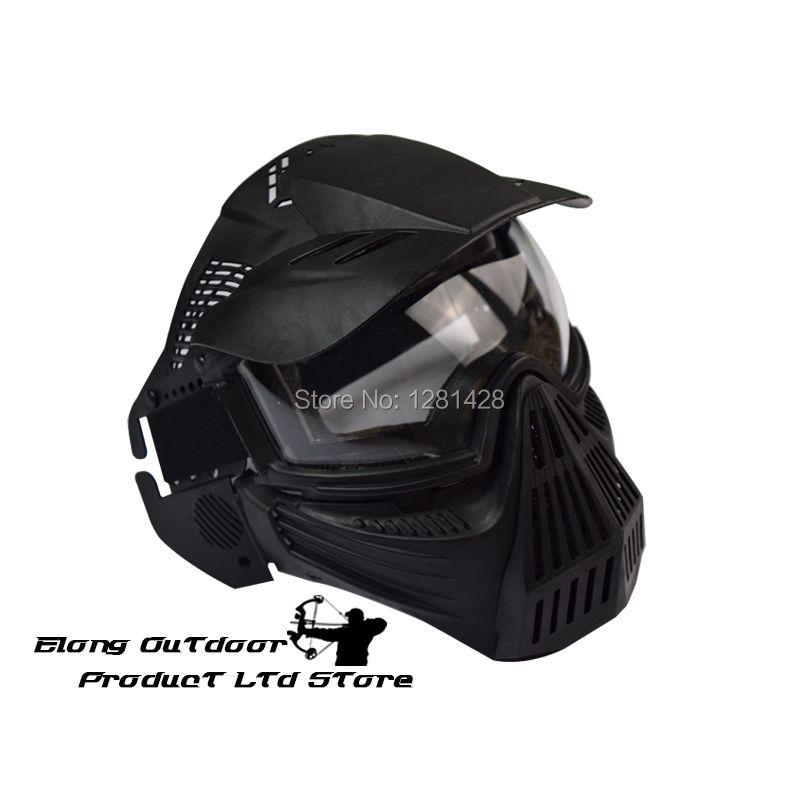 Envío Gratis 1 UNIDS CS Máscara de Cara Completa de Malla de Protección CS Airsoft Paintball Juego de Tiro Deportivo