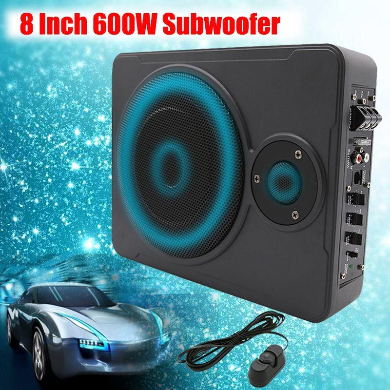 Neue 8 zoll Bluetooth Auto Hause Subwoofer Unter Sitz Unter 600 watt Stereo Subwoofer Auto Audio Lautsprecher Musik System Sound woofer
