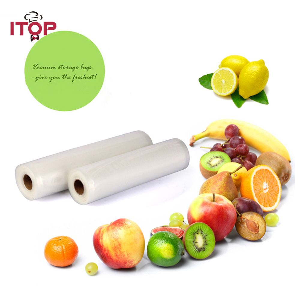 ITOP alimentaire scelleur sous vide sacs d'emballage sacs de stockage 30*500 cm un rouleau sacs d'économie de nourriture, transformateurs de nourriture en gros