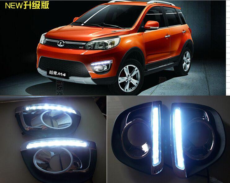 Free Shipping 2012-2014 Great Wall Haval M4 Daytime Running Light Fog light High Quality LED DRL LED car fog lamp 12V 2pcs