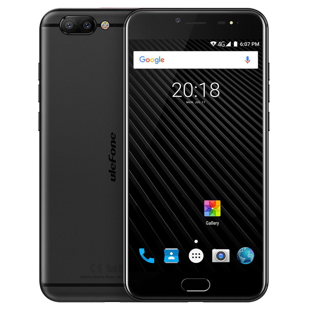 Ulefone T1 4G Smartphone Android 7.0 5.5 inch Helio P25 Octa Core 2.6GHz 6GB RAM 64 GB ROM 16.0MP+5.0MP Dual Rear Cameras Type-C
