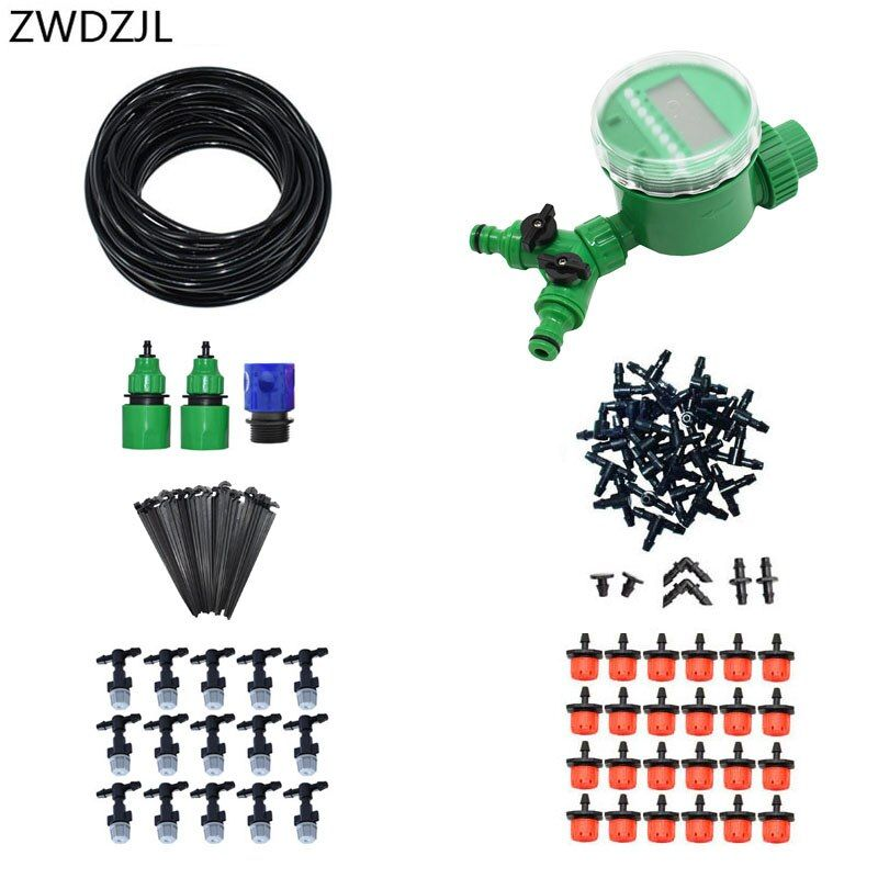 Greenhouse Automatic irrigation system 2 way watering kit DIY automatic garden watering strawberry irrigation 1 set