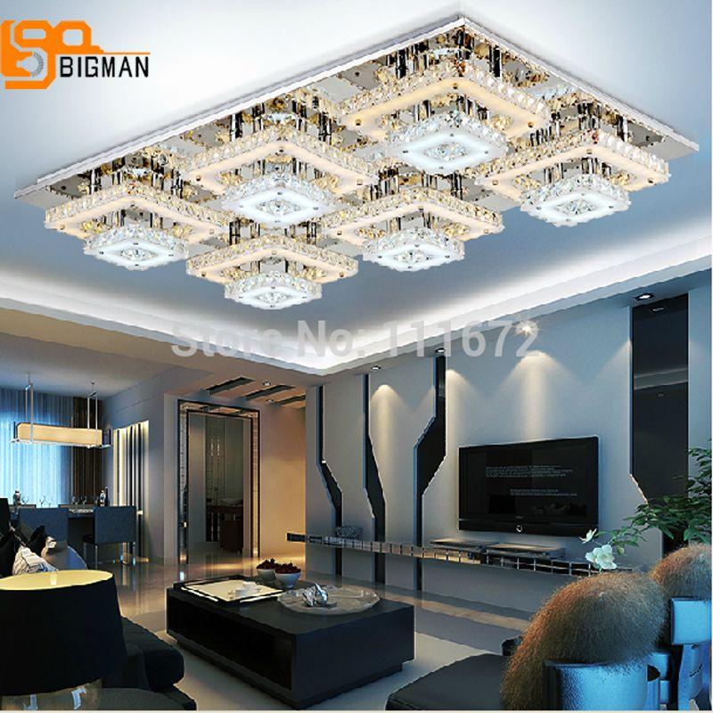 Verkaufsförderung neue kristall LED kronleuchter wohnzimmer kristall leuchtet 2 schichten warmweiß + weiß moderne lampe