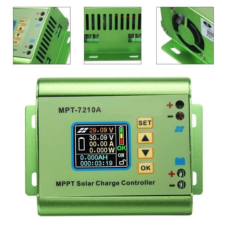 LCD Display MPT-7210A MPPT Solar Panel Charge Controller 24/36/48/60/72V Boost for Solar Battery Regulatir Controller