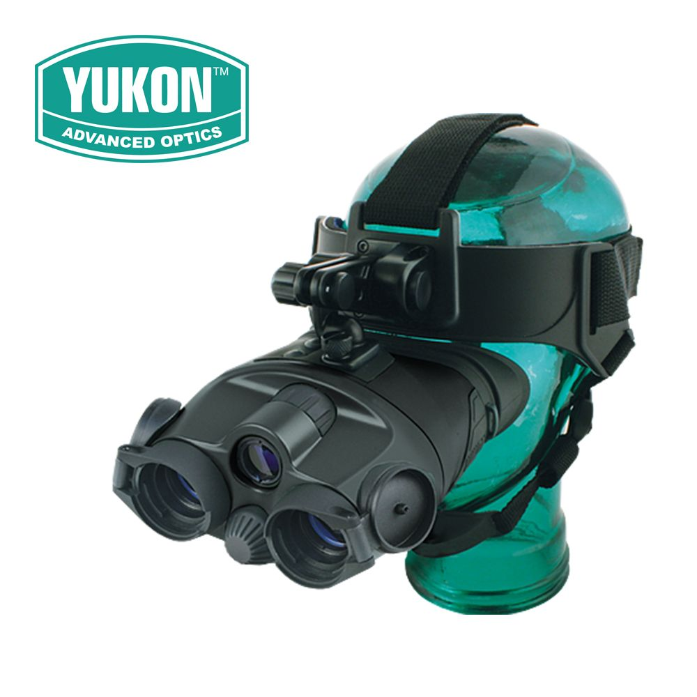 Yukon Tracker 1X24 Generation 1 Night Vision Binoculars Goggles NVMT Compact Head Mount for Hunting Tactical #25025 Black