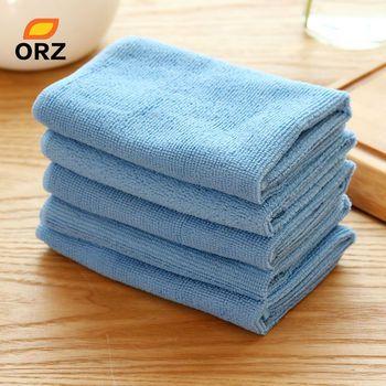 ORZ 5 pcs/lot Absorbant En Microfibre Serviette de Cuisine Cleaner Chiffons Wipping Chiffon De Nettoyage De Bain Poussière Visage Main Cheveux Sèche-Serviette