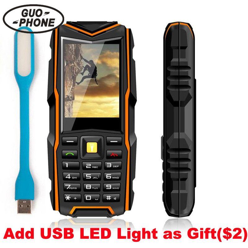 GuoPhone V3 Phone IP67 Waterproof Shockproof Dustproof Mobile Phone Power Bank Long Standby Outdoor Army 5200mAh