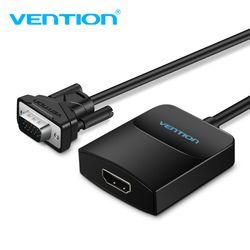 Vention activo VGA a HDMI Adaptador convertidor de cable con audio 1080 p para PC portátil a HDTV proyector incorporado chipset