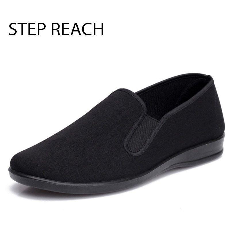 STEPREACH Marque Unisexe Noir Chinois Coton-made chaussures pour Art Martial Kung Fu wushu Tai Chi Slipper Bruce Lee hommes chaussures sapatos