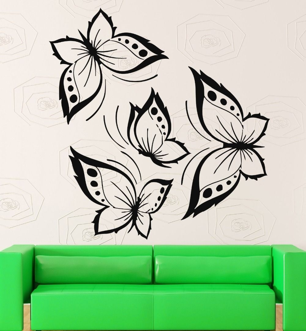 Butterflies Wall Stickers Beautiful Design for Living Room Vinyl Decal