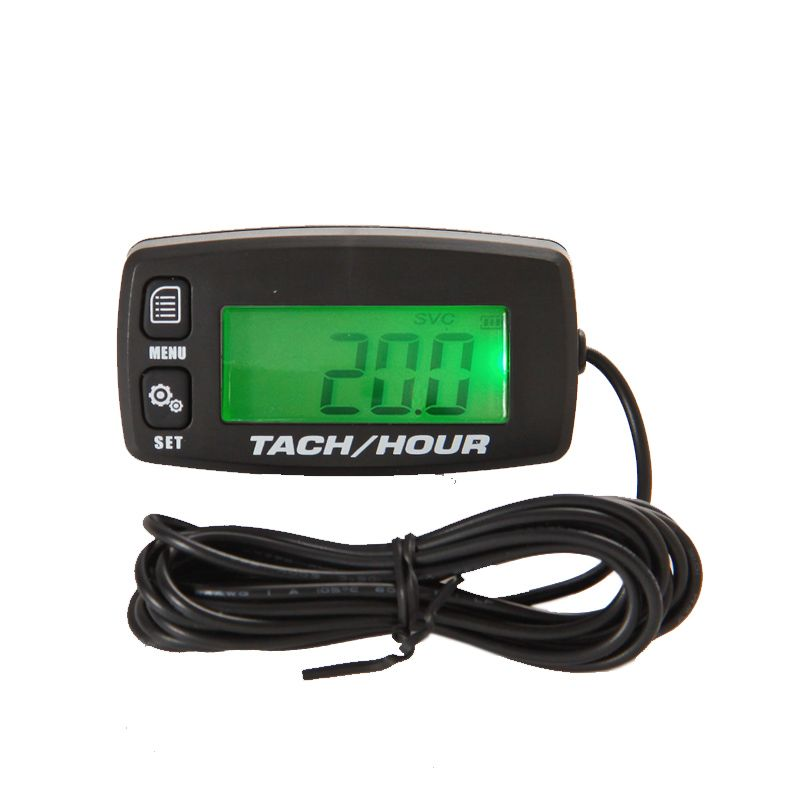 Free Shipping!Digital Resettable Inductive Tacho Hour Meter Tachometer For <font><b>Motorcycle</b></font> Marine Boat ATV Snowmobile Generator Mower