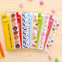 Mini kawaii Cartoon animales Panda gato Memo pad notas adhesivas Memo Notebook papelería escolares papel Adhesivos