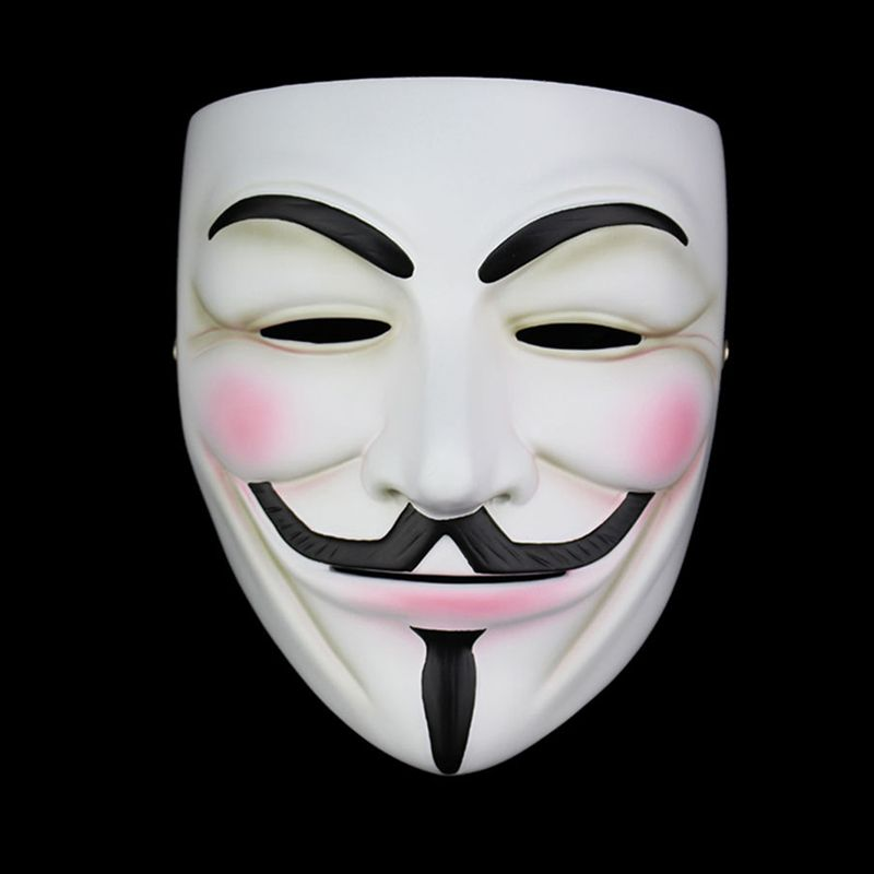 Haute Qualité V Pour Vendetta Masque Résine Recueillir Home Decor Parti Cosplay Lentilles Anonyme Masque de Guy Fawkes