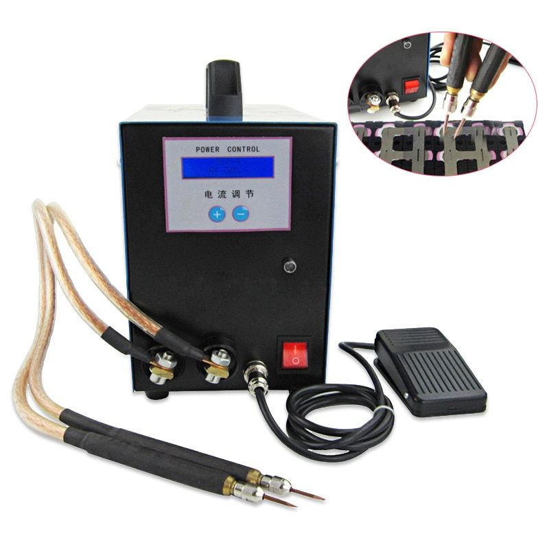 18650 battery spot welder Electric car spot welding with LED display Handheld welding machine 220V 110V High-power spot welding
