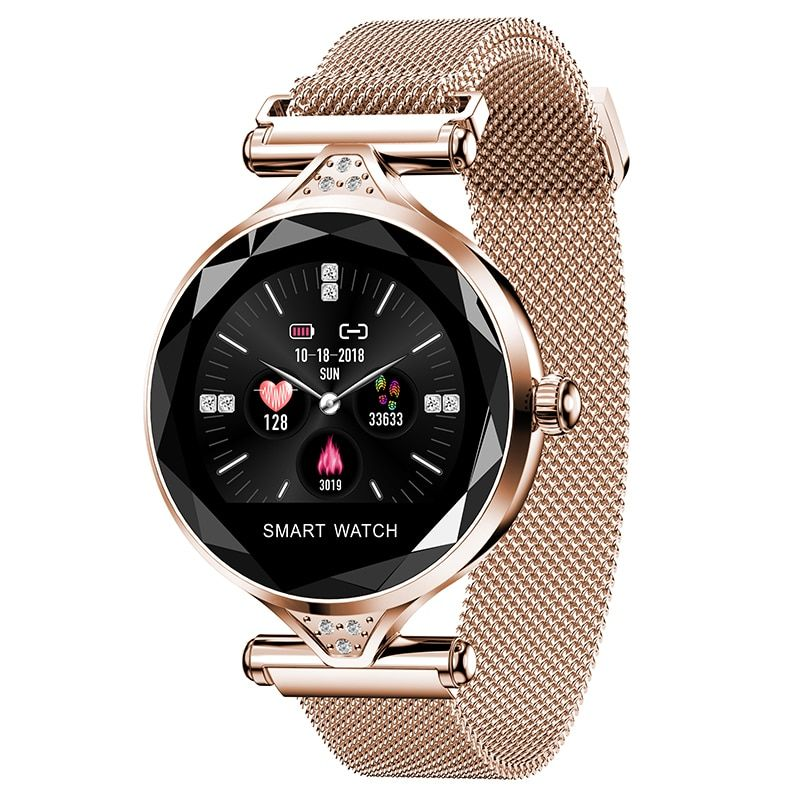 2019 OGEDA H1S Women Fashion Smartwatch Wearable Device Bluetooth Pedometer Heart Rate Monitor For Android/IOS Smart Bracelet