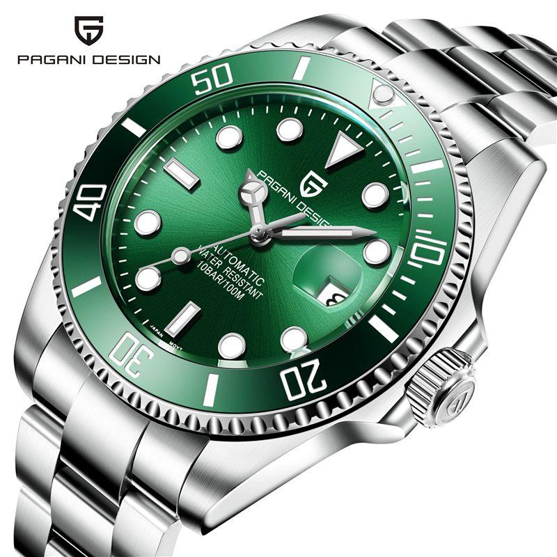 PAGANI bewegung Männer Uhren Top-marke Luxus Sapphire 100 Wasserdichte Seiko movementWatches Männer Automatische Mechanische Handgelenk W