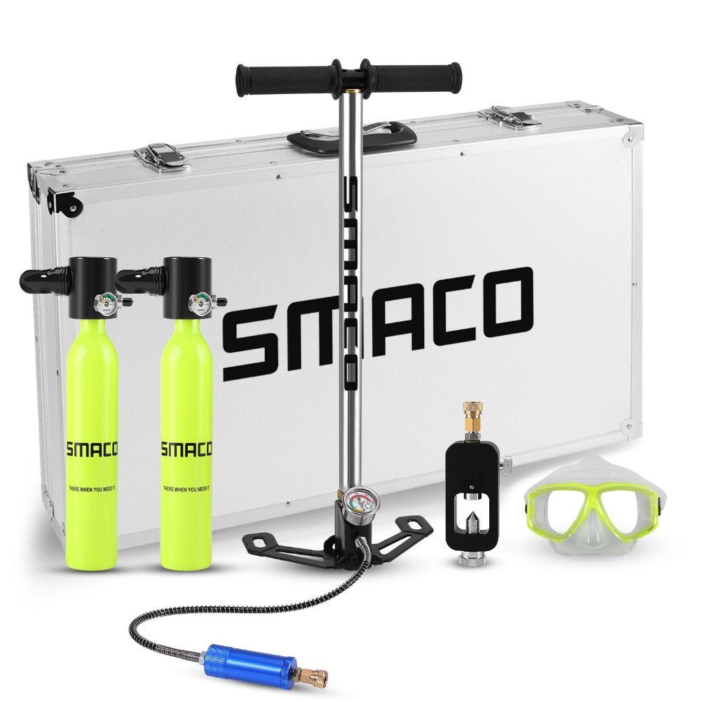 SMACO Zwei sauerstoff zylinder sets Mini scuba tauchen ausrüstung tank insgesamt freiheit atem unterwasser für 5 zu 10 minuten