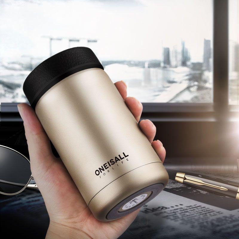 Hommes Cadeau Tasse Thermos En Acier Inoxydable Isolé Thermo tasse à thé avec infuseur d'eau pour bouteille de café de fiole à Vide de vin Gobelet