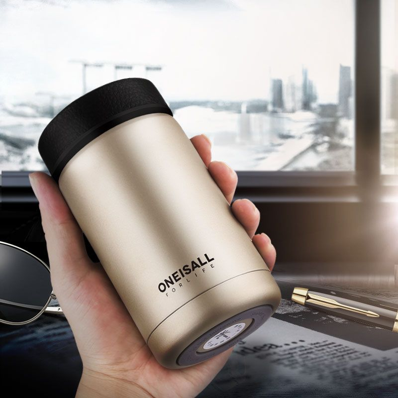 Men <font><b>Gift</b></font> Thermos Cup Insulated Stainless Steel Thermo mug with tea infuser water for bottle Vacuum flask coffee wine Tumbler