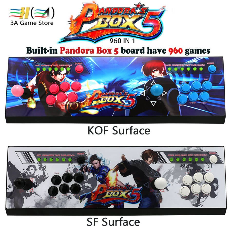 New Pandora box 5 960 in 1 arcade control kit joystick usb buttons zero delay 2 players HDMI VGA arcade console controller TV pc