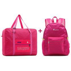 2018 mujeres de la manera Bolsas de viaje bolsa plegable de nylon impermeable gran capacidad de equipaje bolsa Bolsas portátil hombres mano Bolsas al por mayor