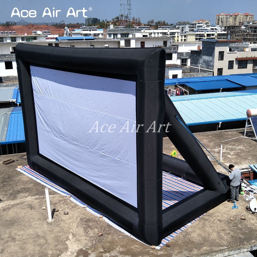 Factory directly customized giant Inflatable air structure Movie Screen made in China
