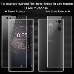 Untuk sony xperia xa2 ultra Smartphone Mobile Depan/Belakang Layar Film IMAK 0.15mm Ultra Tipis Hidrogel II Penuh penutup Pelindung Film